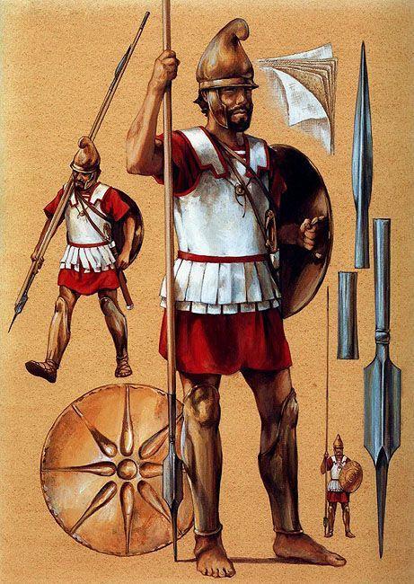 Macedonian soldiers - Greece The phalangite (pezhetairos)