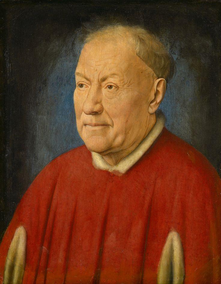 Jan van Eyck, Ritratto del cardinale Niccolò Albergati, 1431, olio su tavola, Kunsthistorisches Museum, Vienna