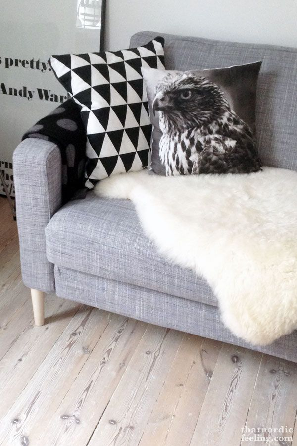 Designer legs for the sofa via thatnordicfeeling.com
