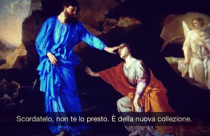 """Laurent de La Hyre . """" Apparizione di Cristo alla Maddalena """""""