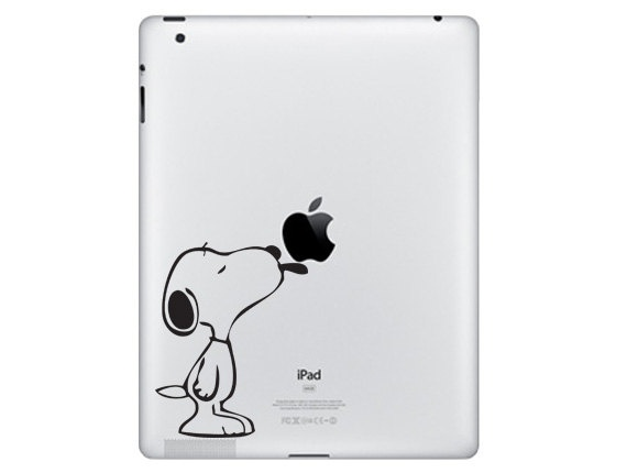 Snoopy For iPad Vinyl Decal DP0001 by dinaamon on Etsy