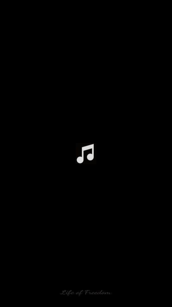 Wallpaper Of Art Outline Icon Of Music Note Design In Dark Black Backgrounds For Mobile Phone Wallpa Instagram Black Theme Cute Black Wallpaper Black Wallpaper