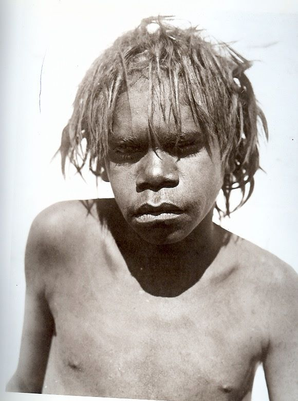 """Waramanga youth passing through initiation ceremonies. Tennant Creek, July-Sept, 1901"". From The Aboriginal Photographs of Baldwin Spencer, 1982."