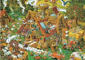 Funny Farm jigsaw puzzle by Heye
