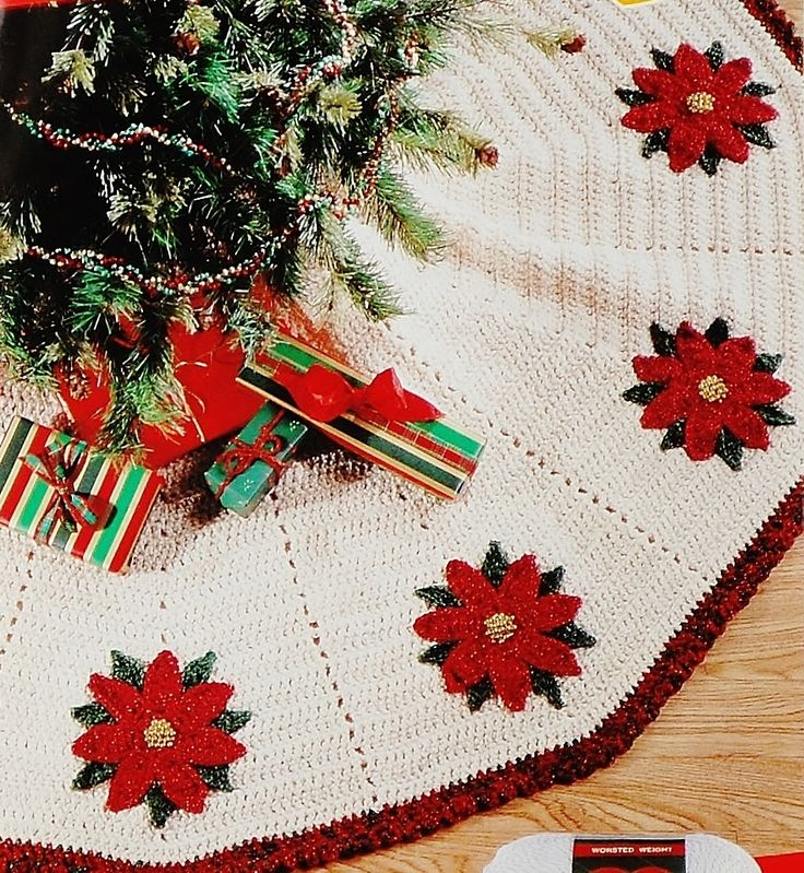 Red Heart Tree Skirt Crochet Pattern Leaflet LW1411 Deal $5.45 http://www.bonanza.com/listings/378092588