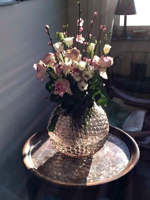 Vase à bulles - pastel pink