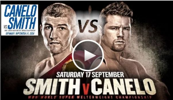 Saturday, Sept. 17, 2016 Las Vegas (HBO PPV)  Alvarez vs Smith     Canelo Alvarez vs Liam Smith                         http://watchlivestreamsports24x7.com/Alvarez-vs-Smith/                           http://onlineincomeweb.com/canelo-alvarez-vs-liam-smith-live-stream/  Canelo Alvarez (C middleweight, No. 8 P4P) vs. Liam Smith (No. 8) 12 rounds – Junior middleweight division (for Smith's WBO title)