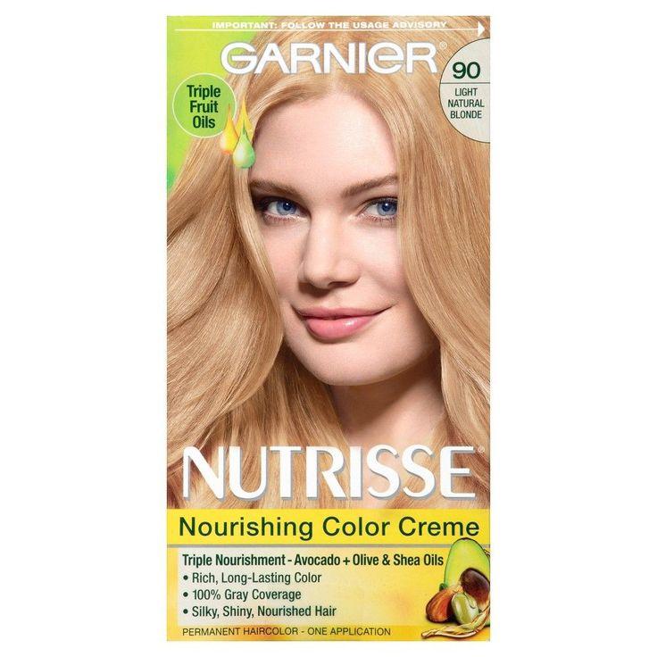 Garnier Nutrisse Nourishing Color Creme 90 Light Natural Blonde