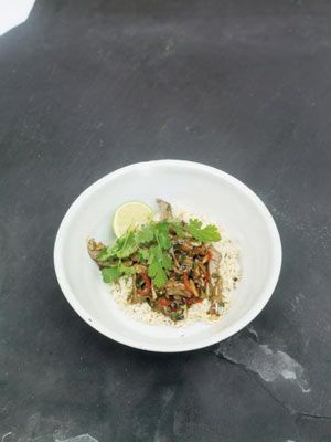 This works best with rice that has been made earlier, cooled, and then chilled in the fridge. But if you cant prepare rice for this dish in advance, cook it then spread it out on a tray in a thin layer so that it cools down quickly while youre cooking the rest of the dish.