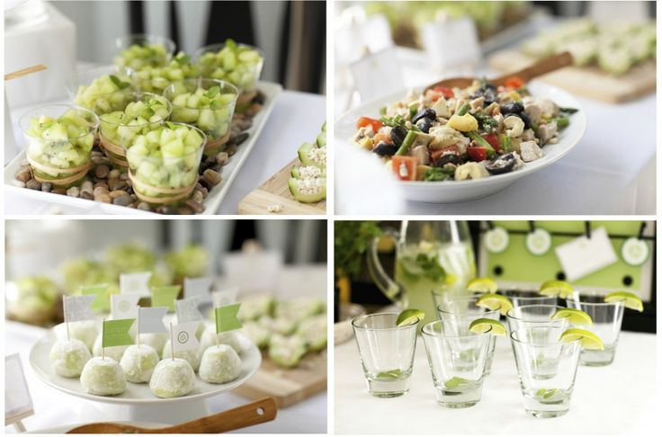 Spa Party Food... delicious and healthy with great presentation!