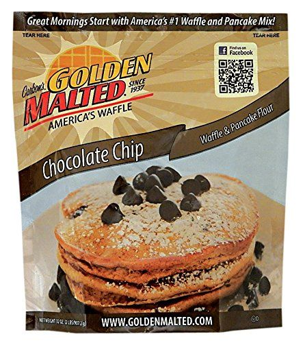 Carbons Golden Malted Chocolate Chip Waffle and Pancake Flour 32 Ounce -- To view further for this item, visit the image link.(This is an Amazon affiliate link and I receive a commission for the sales)