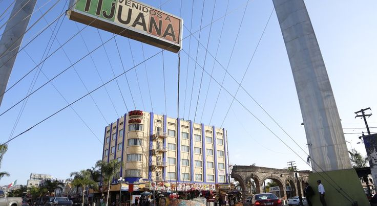 The Hotel Nelson on Tijuana's Avenida Revolucion, where Andrew Tahmooressi reportedly paid for a room hours before his March 31st detention at the El Chaparral border crossing.