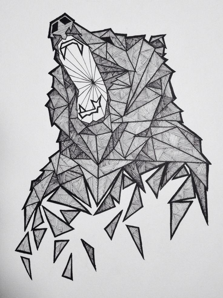 Geometric Bear Sketch                                                                                                                                                     More