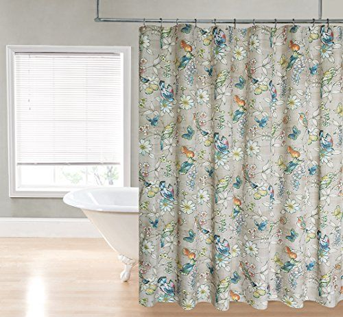 Regal Home Collections Botanical Bird Print Fabric Shower Curtain, 70 by 72-Inch, Neutral Regal Home Collections http://www.amazon.com/dp/B00TCO2LEI/ref=cm_sw_r_pi_dp_tbCnvb0BE417M