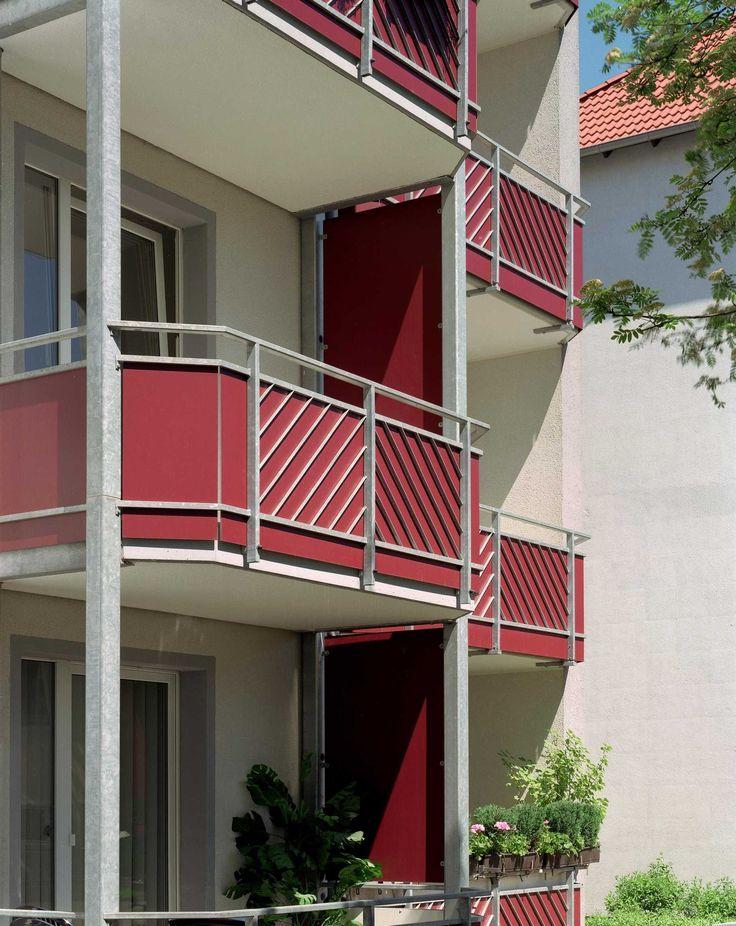 braunschweig germany balconies trespa meteon 2002. Black Bedroom Furniture Sets. Home Design Ideas