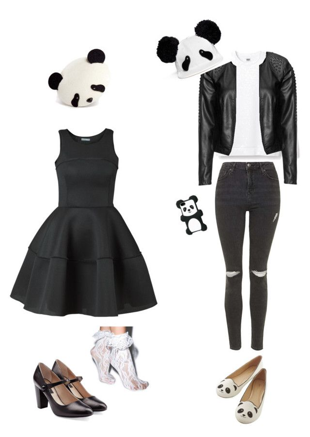 """""""Chic and casual PANDA outfit"""" by pasteldolly ❤ liked on Polyvore featuring Leg Avenue, Piers Atkinson, Marc Jacobs, Topshop, Zizzi and Bershka"""