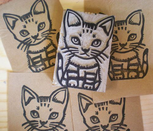 15 great cat stamps -- be sure to check them all out at Design*Sponge!