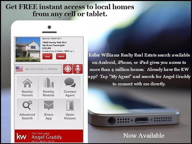 Search for your next home on the go with my kw® app.  Available now for your phone or tablet! (Link in bio) #Michigan #MichiganRealtor #HomeBuying #PureMichigan #RealEstate #Realtor #kw #AngelsAnAgent