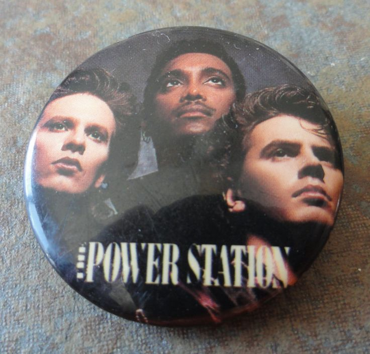 vintage 1980s The Power Station pin Andy Taylor Tony Thompson John Taylor Duran Duran by PolycoVintage on Etsy