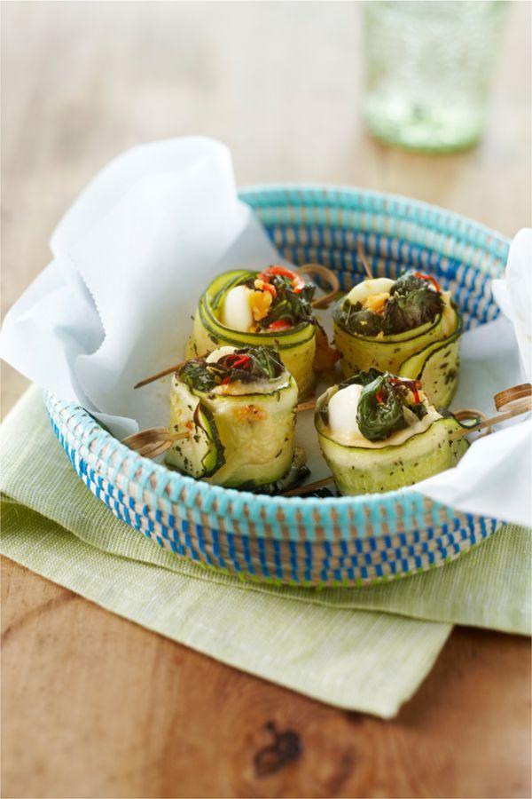 Courgetterolletjes met spinazie en kaas | A.Vogel gezonde recepten