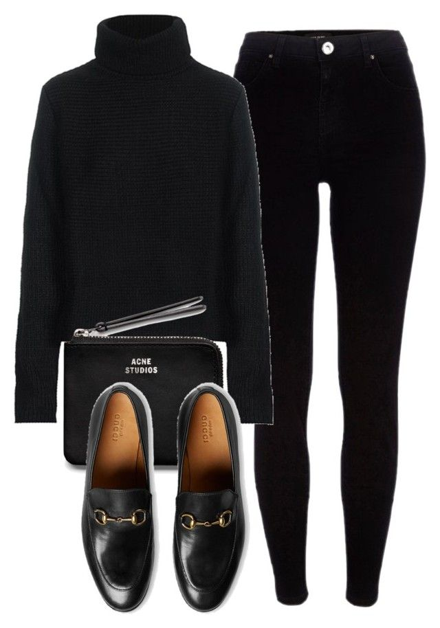 """""""Untitled #5930"""" by laurenmboot ❤ liked on Polyvore featuring River Island, T By Alexander Wang, Acne Studios and Gucci"""