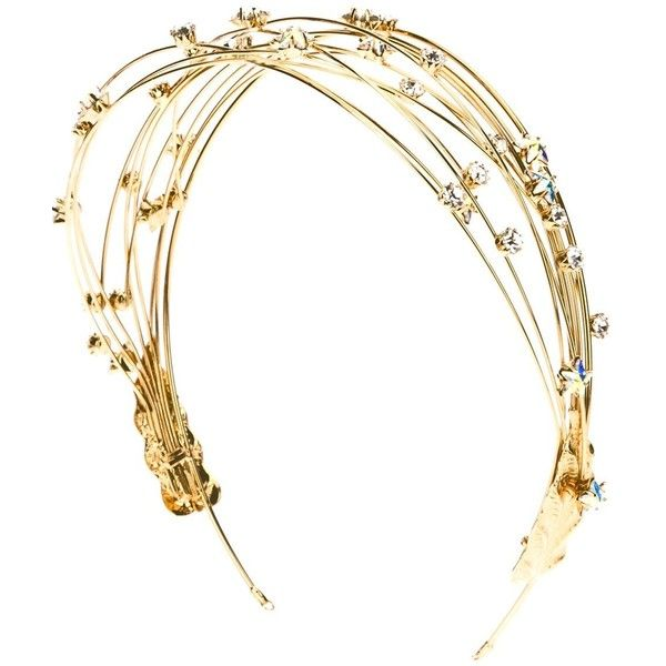 LOUIS MARIETTE 'Midnight Stars' headband ($370) ❤ liked on Polyvore featuring accessories, hair accessories, headbands, hair, jewelry, hair band headband, louis mariette, hair bands accessories, star hair accessories and thin headbands
