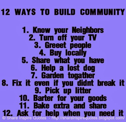 Building community quotes quotesgram for Help me build a house