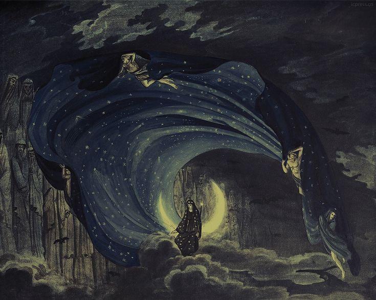 Karl Friedrich Schinkel, design for Die Zauberflöte (The Magic Flute), 1816