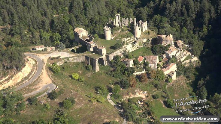 L'Ardèche vue du ciel (part 2) Du Pont d'Arc au Mont Gerbier de Jonc (4K)