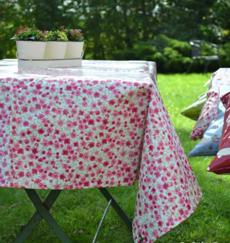 Oily Rag Oil Cloth Waterproof Home Garden Table Cloth Round Ditsy Rose