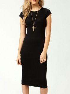 Brief Overknee Plus Size Bodycon Dress Black Dresses