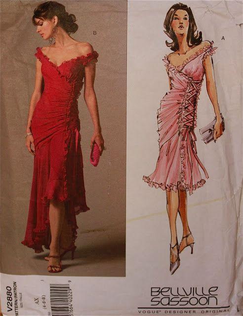 Deep red tango dress