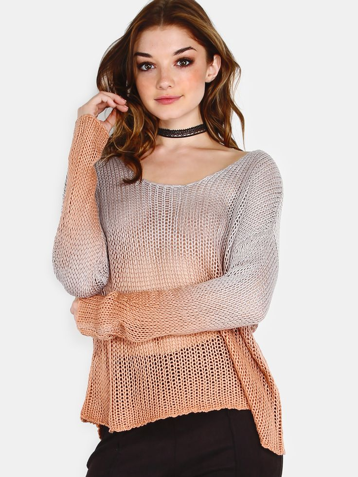 Shop Knit Ombre Sweater RUST online. SheIn offers Knit Ombre Sweater RUST & more to fit your fashionable needs.