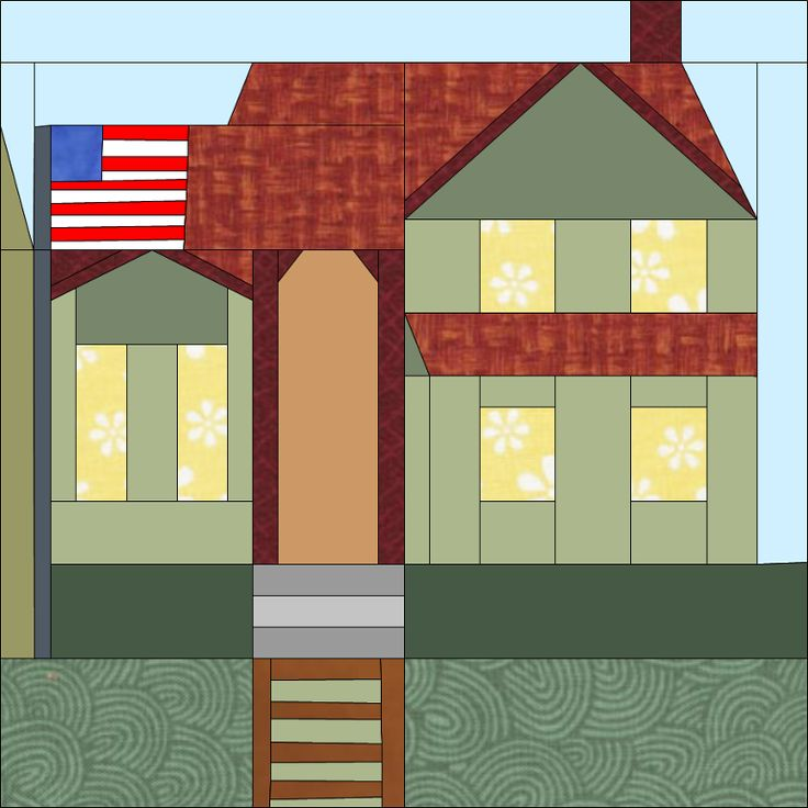 House 2 paper pieced patterns of houses quiltartdesigns.blogspot.com