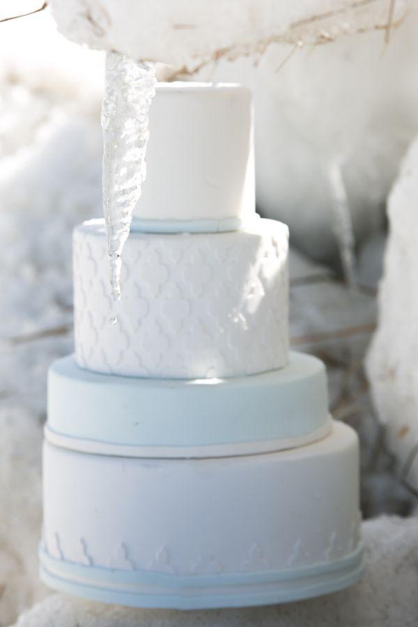 Winter Wedding Cake by A Little Imagination Cakes in #CapeCod #CapeCodWedding #CapeCodPhotographer #Fondant #icicle #frozen www.simplykstudios.com