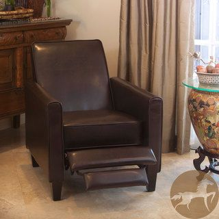 christopher knight home leather recliner club chair relax in style