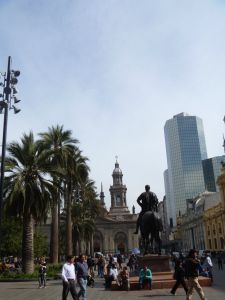 Plaza in Santiago.  Chile// Travel// Backpacking// Tips// Things to do