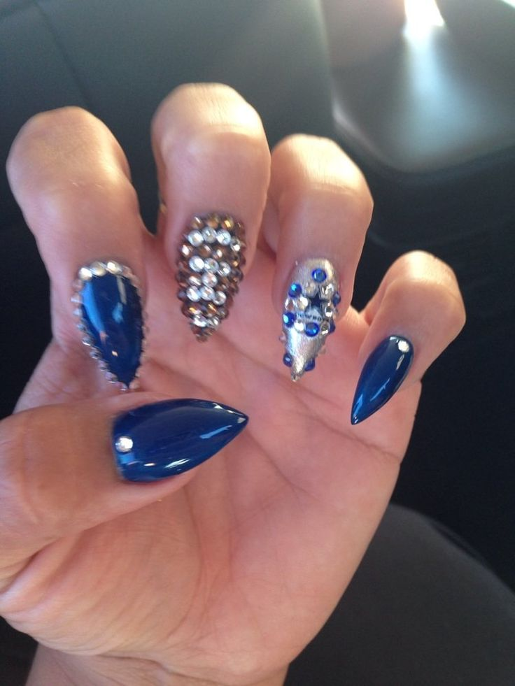 3D Nails - Upland, CA, United States. Dallas Cowboy Nails by Ruby. She's the bomb.com