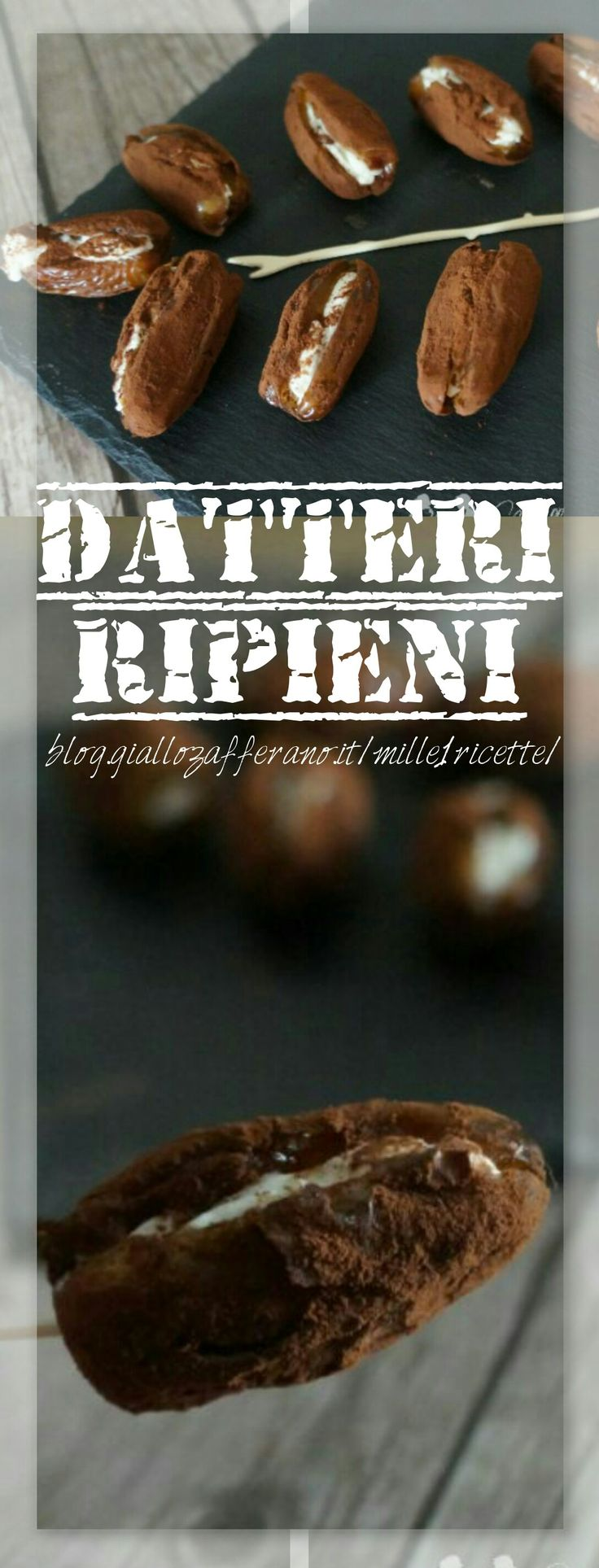 Datteri ripieni di mascarpone e una ricetta molto semplice e facile da preparare