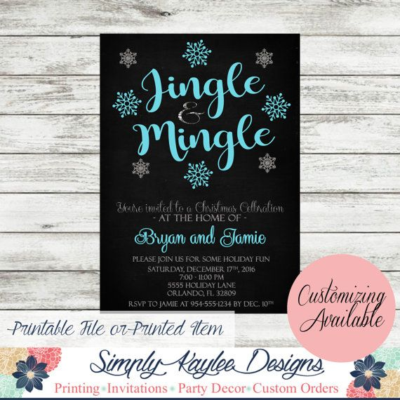 Jingle And Mingle Holiday Party Invitation By SimplyKayleeDesigns