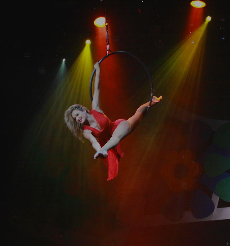 'Band On The Run' Stage Show Aerial Hoop Shot