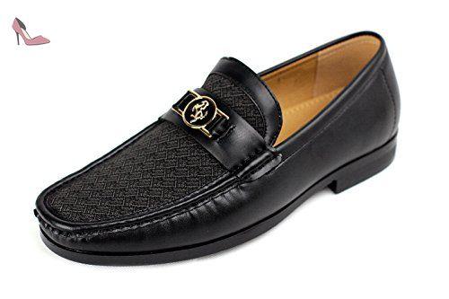 24ebf7e6a4ed7 Hommes Chaussures À Enfiler Décontractées Designer Mocassin Élégant Mariage  Bureau Travail - Noir, EU 42.5 - Chaussures jas ( Partner-Link)   Pinterest  ...