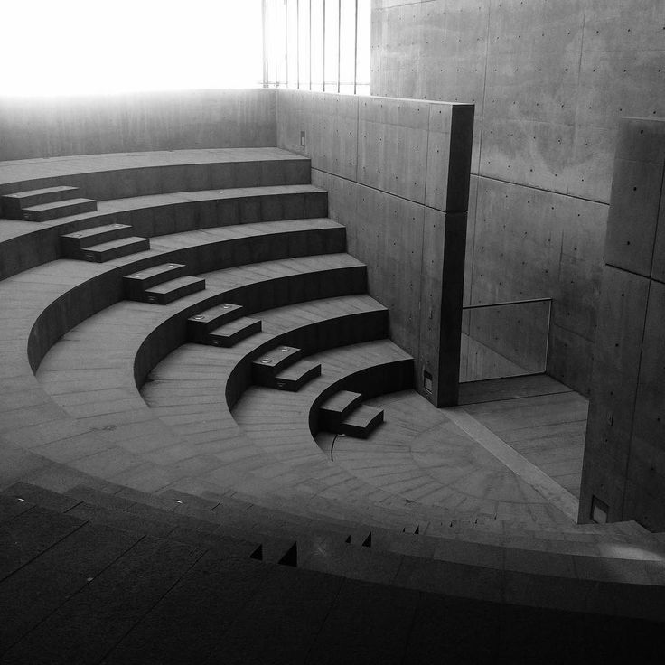 """One of two small amphitheaters designed by Tadao Ando within the CRGS """"Gate of Creation"""" building on the UDEM campus in Monterrey, Mexico"""
