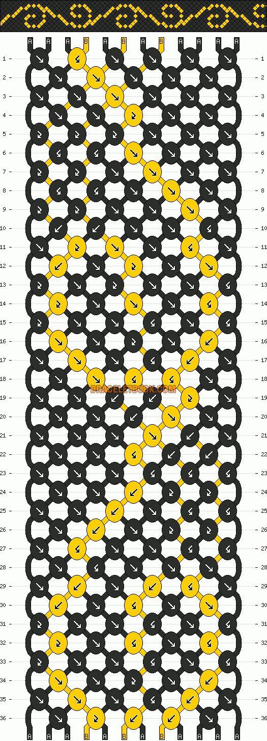 Normal Friendship Bracelet Pattern #10739 - BraceletBook.com