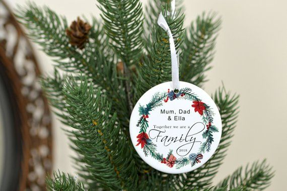 Family Christmas Ornament Name Decoration Personalized Family Gift Family Tree Ornament Christmas Tree Decoration Customized Tree Family Christmas Ornaments Christmas Ornaments Christmas Tree Decorations