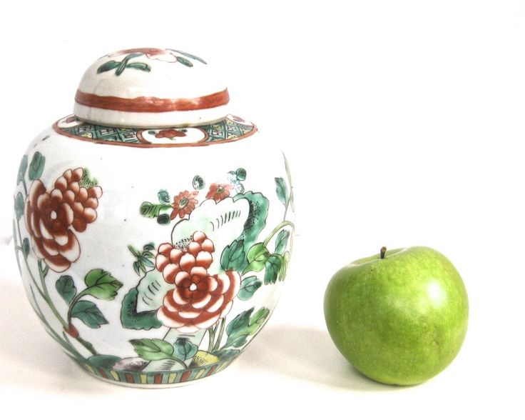 Antique Ginger Jar w/ Lid Hand Painted Republic China Porcelain 1890-1920 by KatesChockfullAttic on Etsy