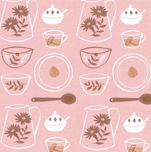 Clare Owen  Retro Pattern in Pink
