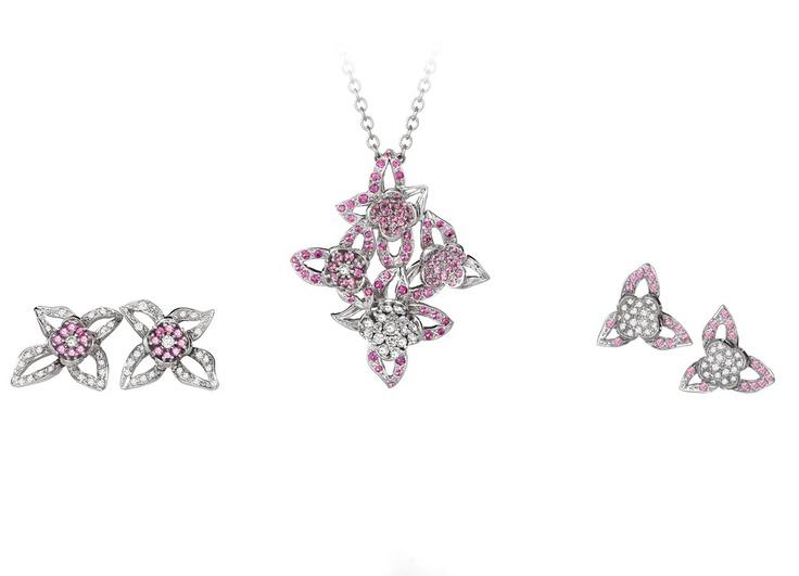 Pink sapphire and diamond jewellery by Giulians