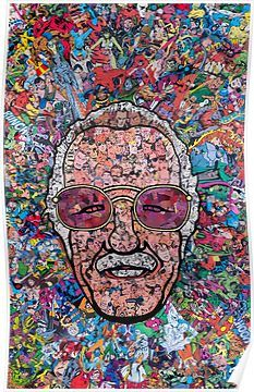 Stan Lee collage Poster