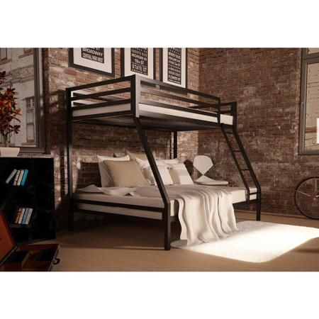 your zone premium twin-over-full bunk bed, Multiple Colors - Walmart.com
